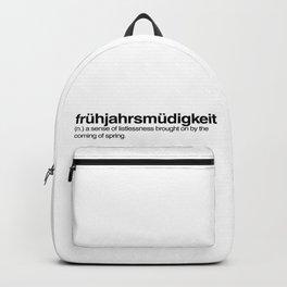 frühjahrsmüdigkeit Backpack
