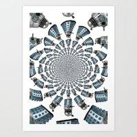 dalek Art Prints featuring Dalek by Natasha Lake