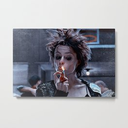 Marla Singer Smokes A Cigarette During Group Therapy - Fight Metal Print
