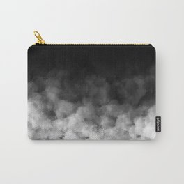 Ombre Black White Clouds Minimal Carry-All Pouch