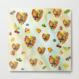 I Heart Fruit Salad Metal Print