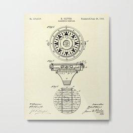Mariner's Compass-1892 Metal Print