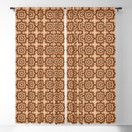 Moroccan Tile, Brown, Camel Tan and Beige Blackout Curtain