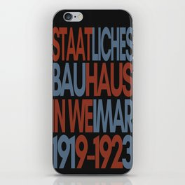 Bauhaus Poster iPhone Skin