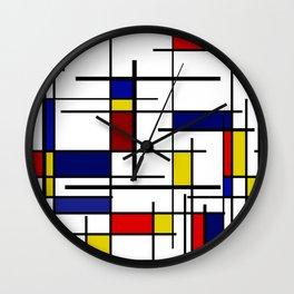 Mondrian Pattern Wall Clock