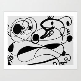 Ducky In line Art Art Print