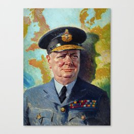 Winston Churchill In Uniform Canvas Print