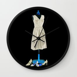 Mannequin with Shoes Wall Clock