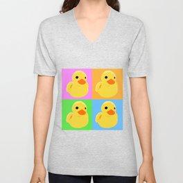 Fuzzy Duck Quad Unisex V-Neck