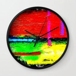 Zips & Fields Wall Clock