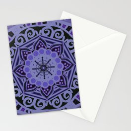 Romantic Violet Mandala at Midnight Stationery Cards