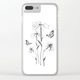 Flowers and butterflies 2 Clear iPhone Case