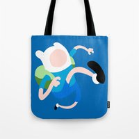 finn Tote Bags featuring Finn by Polvo