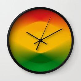 Rasta Color Harmony Wall Clock