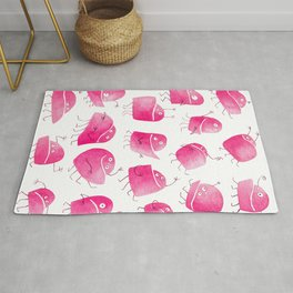 Pink Underbite Monsters Rug