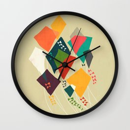 Whimsical kites Wall Clock