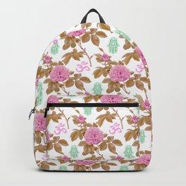 Floral Hamsa Backpack