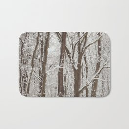 Trees in winter Bath Mat