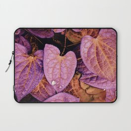 Fallen Leaves With Dew Laptop Sleeve
