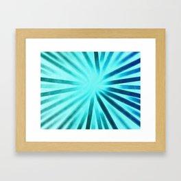 Intersecting-Aqua Framed Art Print