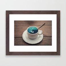 Surf's Cup Framed Art Print