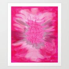 pink poem Art Print