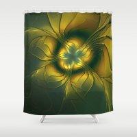golden Shower Curtains featuring Golden by gabiw Art