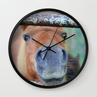 pony Wall Clocks featuring Pony by Blown A Wish Photography