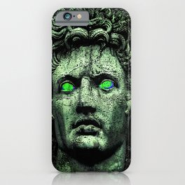 Angry Caesar Augustus Photo Manipulation Portrait iPhone Case