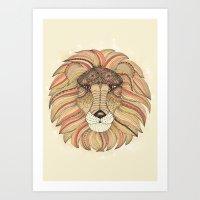 leo Art Prints featuring Leo by Vibeke Koehler