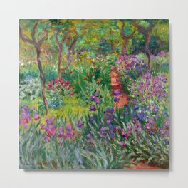 "Claude Monet ""The Iris Garden at Giverny"", 1899-1900 Metal Print"