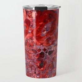 Marble Ruby Blood Red Agate Travel Mug