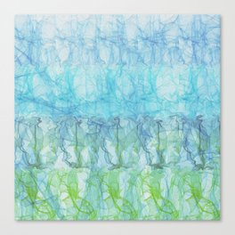 Boho Aqua Wisp Canvas Print