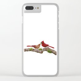 Northern  Cardinals Clear iPhone Case