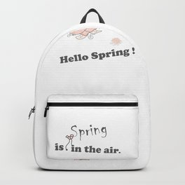 Spring-is-in-the-air, Hello-spring, Spring-quotes, pink-rose, flowers floral pinkwhite society6 Backpack