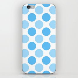Blue polka dots iPhone Skin