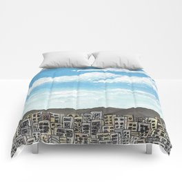 Townscape Sky Comforters
