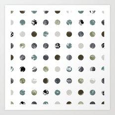 Graphic_Dots Art Print