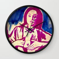 georgia Wall Clocks featuring Georgia by Lord Egon Will