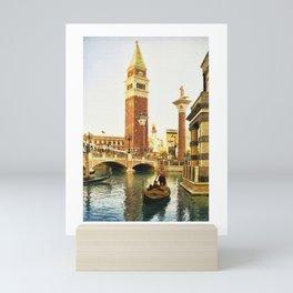 Gondola ride at Venetian, Las Vegas - Digital Painting Mini Art Print
