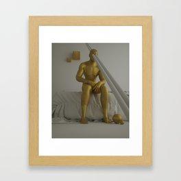 WOKE UP LAUGHING Framed Art Print