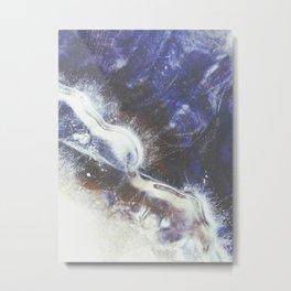 Blue River Ice Metal Print