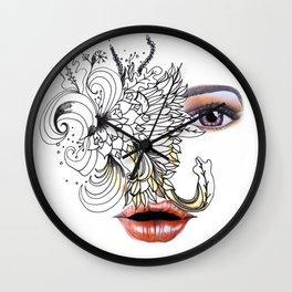 rostros y flores Wall Clock