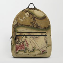 Vintage Map of Baltimore MD (1781) Backpack