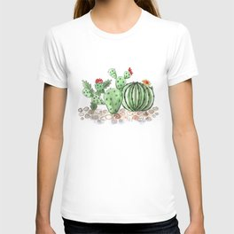 Cactus watercolor illustration T-shirt
