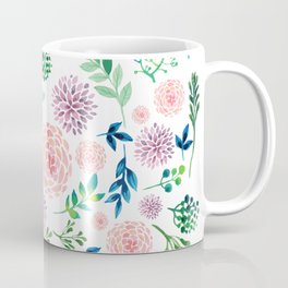 Watercolour Flowers and Nature Coffee Mug
