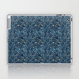 Aqua Blue Aurora Borealis Close-Up Crystal Laptop & iPad Skin
