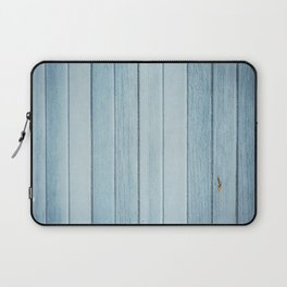 Bright blue wood timber texture wall Laptop Sleeve