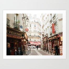 Old Paris - film Art Print