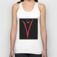 vendetta Tank Tops featuring V for Vendetta (e6) by Ezgi Kaya